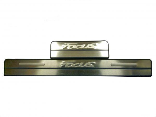 Накладки на пороги без подсветки Форд Фокус 2/2+/Ford Focus 2/2+