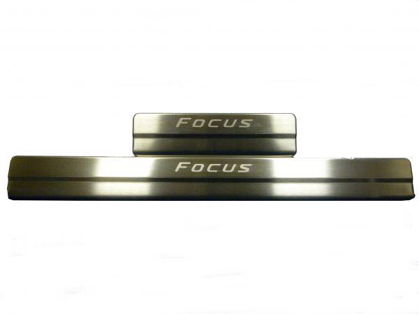 Накладки на пороги без подсветки Форд Фокус 3/Ford Focus 3