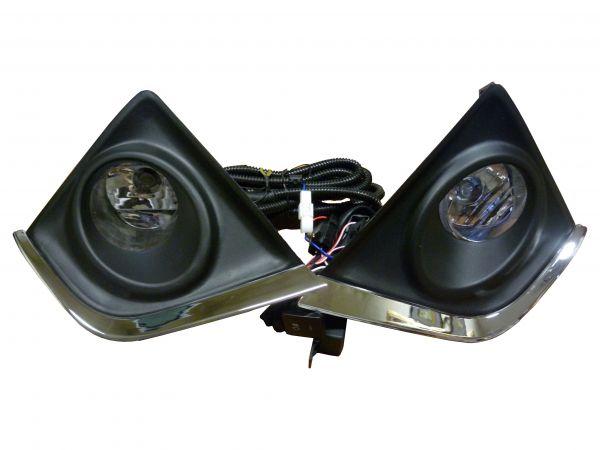 Фары противотуманные Тойота Королла 2014 TY019D с рамками