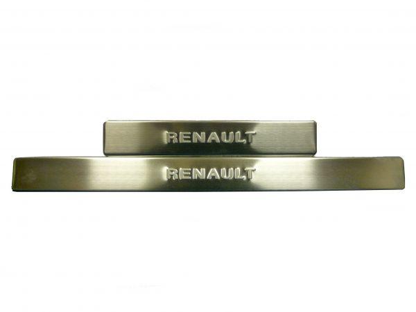 Накладки на пороги без подсветки Рено Сандеро/Renault Sandero