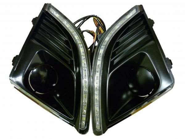 Рамки с ходовыми огнями Шевроле Круз 2013 рестайлинг с поворотником HY-092-27-23