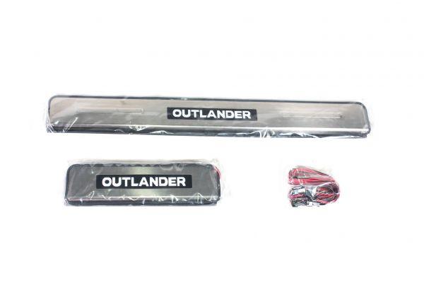 Накладки на пороги светящиеся Мицубиши Аутлэндер/Mitsubishi Outlander