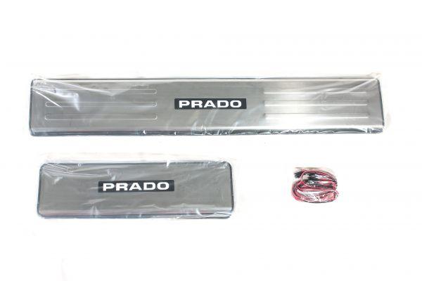 Накладки на пороги светящиеся Тойота Лэнд Крузер Прадо 150/Land Cruiser Prado 150