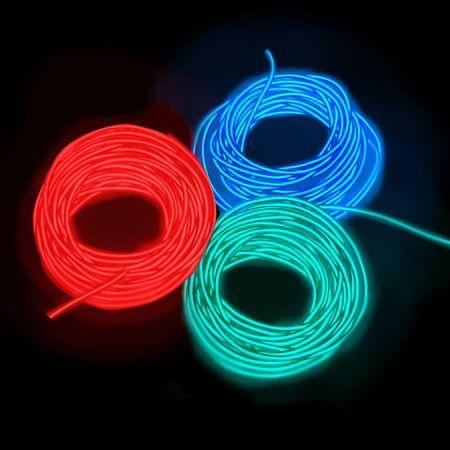 Провод неоновый гибкий NW 105 5м красный